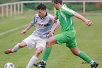 Malá Skála doma nestačila na Držkov (v zeleném) a prohrála 0:3.