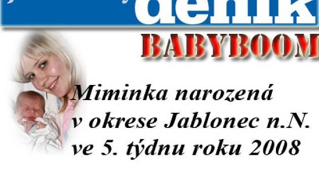 Miminka okresu Jablonec n.N.  25.01.2008 až 01.02.2008