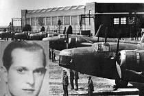 Vickers Wellington. V jednom takovém létal i navigátor Josef Mohr (na malém snímku vlevo).