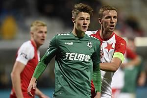 Premiéra osmnáctiletého Velicha v zápase proti Slavii pro něj byla velkým zážitkem. Věří, že cesta do profesionálního fotbalu existuje.