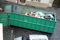 Kontejner na velkoobjemový odpad.