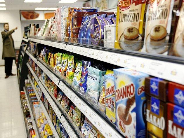 Nákupní košík Deníků- potraviny. Ilustrační snímek.