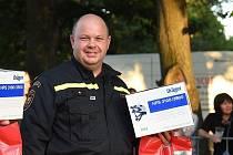 Nejlepší velitel celorepublikové soutěže profesionálních hasičů ve vyproštění je hasič z Jablonce nad Nisou Zdeněk Průša.