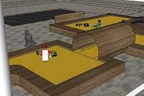 Vítězný návrh pláže před libereckou radnicí