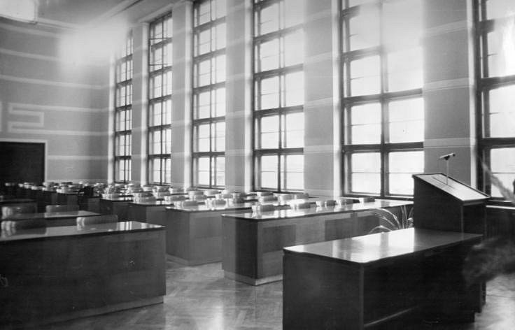 Zasedací sál č. 202 v roce 1976.
