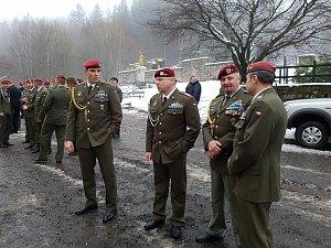 Pohřeb českého válečného veterána Jaroslava Mevalda