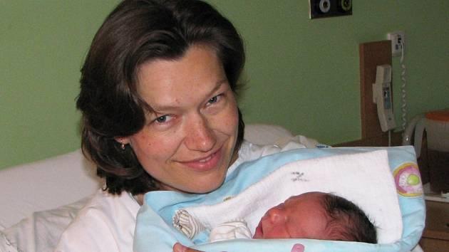 Barbora Vocelová se synem Alexandrem
