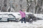 Sněhová nadílka v Jablonci