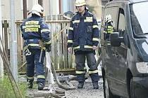 Sbor dobrovolných hasičů Jablonecké Paseky. Požár v Saskově ulici.
