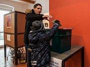 Druhé kolo prezidentských voleb 27. ledna na Rádle na Jablonecku.