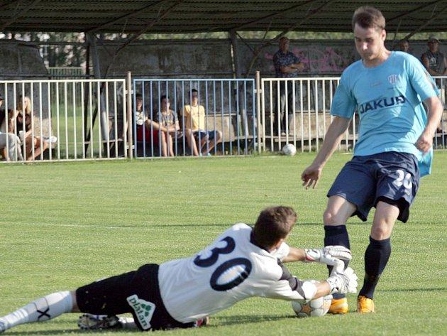 Fotbalové utkání mezi Arsenalem Česká Lípa a FK BAUMIT Jablonec B.