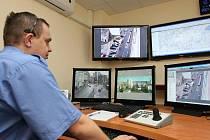 MOZKOVÉ CENTRUM MĚSTSKÉ POLICIE. Tak vypadá zmodernizované operační středisko libereckých strážníků.