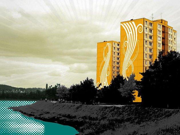 Sídliště Mšeno v barvách.