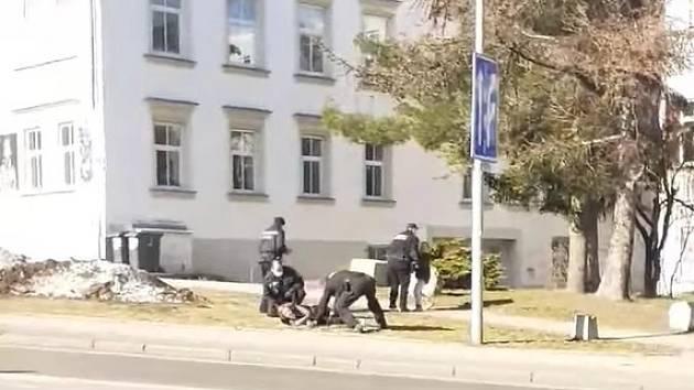 Zásah policie v Jablonci nad Nisou.
