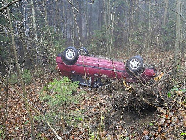 Středeční sváteční den nezačal příliš šťastně pro osmnáctiletého muže, který krátce před půl čtvrtou ráno havaroval na silnici vedoucí z Jablonce na Novou Ves.