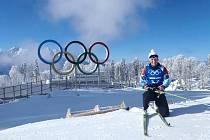 Biatlonistka Veronika Vítková při tréninku v Soči.