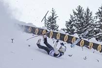 Při skocích na lyžích se také ne vždy všechno povede