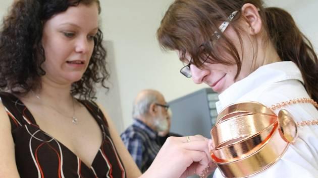 Obhajoba maturitní práce na Uměleckoprůmyslové škole v Jablonci