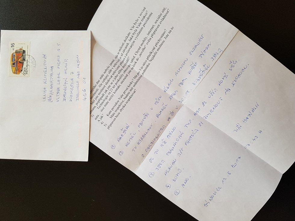 Redakci se podařilo získat dopis od Jiřího Kajínka po té, co se dozvěděl o prezidentské milosti, kterou Miloš Zeman podepíše po návratu z Číny.