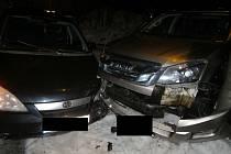 Dopravní nehoda v Janově nad Nisou.