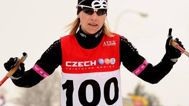 Zimní triatlon ve Vimperku. Na snímku Helena Erbenová z Jablonce.