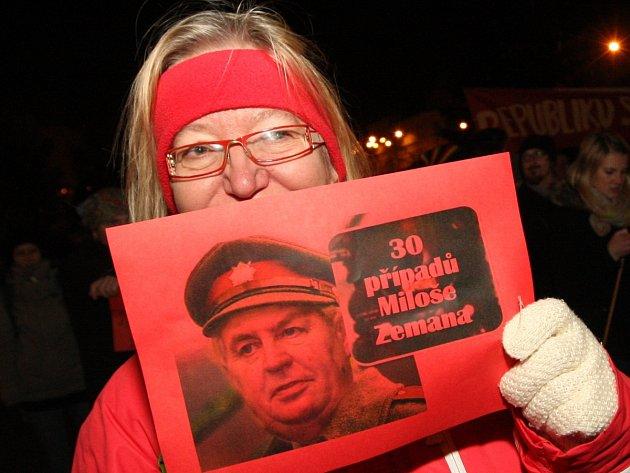 Některé výroky prezidenta Miloše Zemana vyvolaly protesty