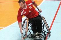 Kapitán reprezentace ČR Miroslav Šperk patří k oporám týmu na mezinárodním turnaji ve florbalu v Jablonci nad Nisou.