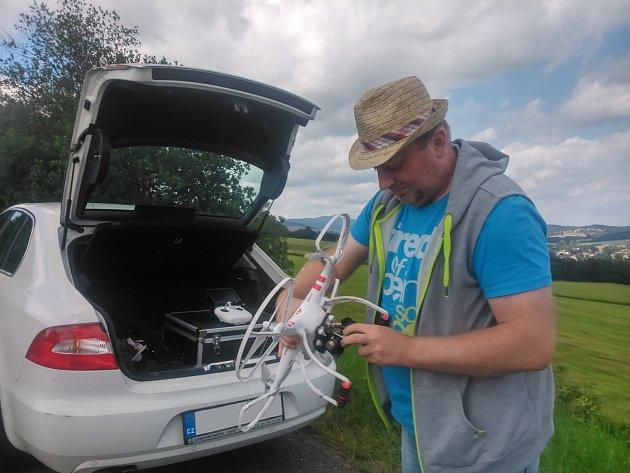 Příprava dronu