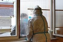 Testování v turnovské nemocnici.