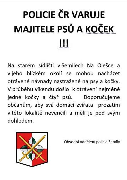 Varování policie.