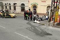 K dopravní nehodě dvou motocyklů došlo  ve čtvrtek krátce před třináctou hodinou v Lučanech.