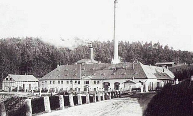 Historická fotografie jabloneckého pivovaru