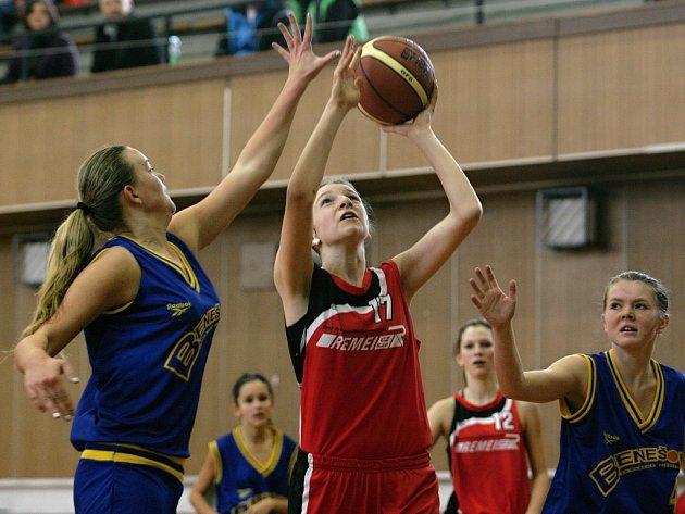Žákyně Bižuterie (v červeném) zakončily sezonu výhrami.