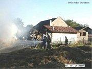 Sbor dobrovolných hasičů Frýdštejn. Požár stodoly v Roudném.