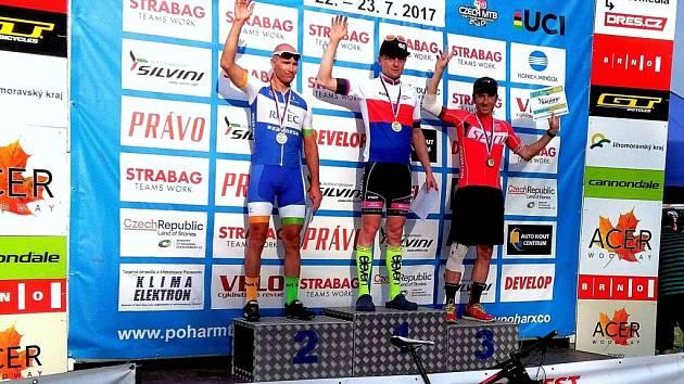 Jablonecký cyklista Ondra Zelený zvládl další důležitý závod v Brně.
