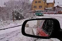 15. dubna se na Jablonecko vrátil sníh. Meteorologům předpověď vyšla.