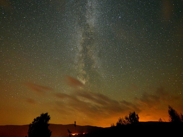 Noční obloha.