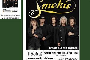 Sedmihorské léto odstartuje legendární Smokie, jediným koncertem v republice.