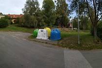 Místo, kde vznikne nové kontejnerové stání.