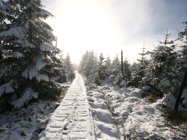 9. listopadu Sedlo Holubníku ve výšce 999 metrů nad mořem.