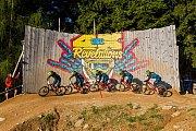 Finále závodu světové série horských kol ve fourcrossu, JBC 4X Revelations, proběhlo 15. července v bikeparku v Jablonci nad Nisou. Na snímku je Olga Romzaikina.