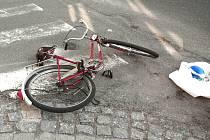 Dopravní nehoda cyklistky.