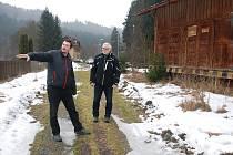 Starosta Petr Hlůže (vlevo) a náměstek hejtmana Josef Jadrný