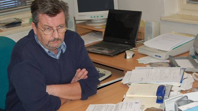 Lučanský starosta Ladislav Pivrnec v úřadu.