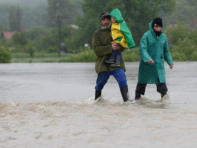 Povodeň ve Višňové na Českolipsku