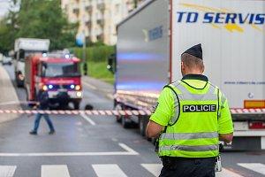 Nehoda nákladního automobilu a chodce, 11. září 2017, Jablonec nad Nisou