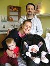 Adéla Hynčicová se narodila Ivetě Havlíčkové a Tomášovi Hynčicovi z Prahy 31. 1. 2016, domů si sestřičku odvážel také bráška Tobík. Měřila 48 cm a vážila 3050g.
