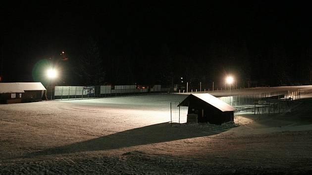 Bedřichovský lyžařský stadion.