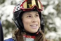 Eva Samková, která coby teprve 16letý talent míří za celkovým vítězstvím v sérii Evropských pohárů.