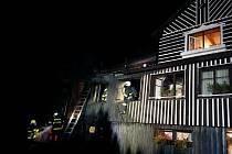 Zásah hasičů na Benecku.